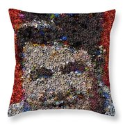 Babr Ruth Puzzle Piece Mosaic Throw Pillow