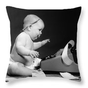 Baby Accountant Throw Pillow
