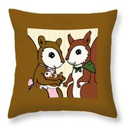 Baby Acorn Throw Pillow