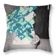 Baby And Squares 2 Throw Pillow
