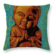 Baby Buddha Throw Pillow