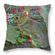 Baby Bunny - Use Red-cyan 3d Glasses Throw Pillow