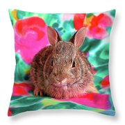 Baby Bunny Throw Pillow