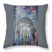 Baby Crow11 Throw Pillow