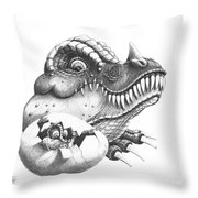 Baby Dinosaur Throw Pillow