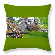 Baby Doves 2 Throw Pillow