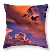 Baby Dragon's Fledgling Flight Throw Pillow