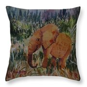 Baby Elly Throw Pillow