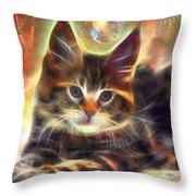 Baby Face - Square Version Throw Pillow