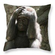 Baby Gorilla1 Throw Pillow