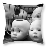 Baby Heads, No.1  Throw Pillow