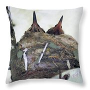 Baby Hummers 4 Throw Pillow