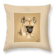 Baby Hyena Throw Pillow
