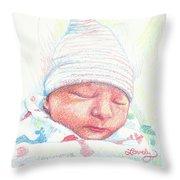 Baby James Throw Pillow