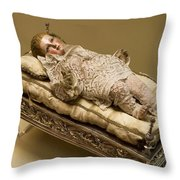 Baby Jesus In Lace Throw Pillow