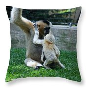 Baby Kisses Throw Pillow