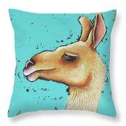 Baby Llama Throw Pillow