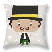 Baby Magician Throw Pillow