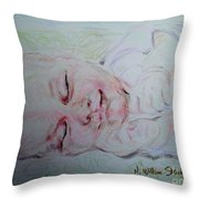 Baby Moses On The River Throw Pillow
