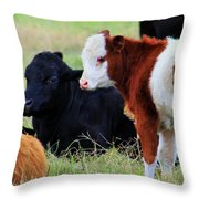 Baby Of The Herd Throw Pillow