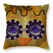 Baby Owl Is So Cute In The Forrest Throw Pillow