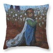 Baby Picking Cotton Throw Pillow
