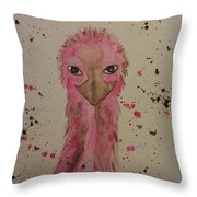 Baby Pink Throw Pillow by Ginny Youngblood