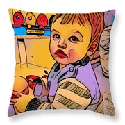 Baby Play Throw Pillow