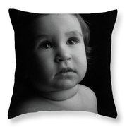 Baby Portrait Throw Pillow