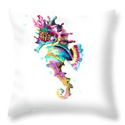 Baby Seahorse Throw Pillow