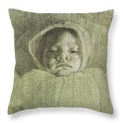 Baby Self Portrait Throw Pillow