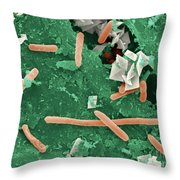Baby Spinach Infected With E. Coli Throw Pillow