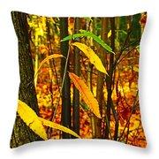 Baby Tree Foliage Throw Pillow