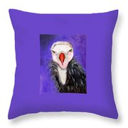 Baby Vulture Throw Pillow