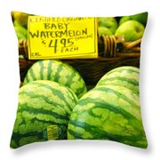 Baby Watermelons Throw Pillow
