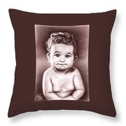 Babyface Throw Pillow