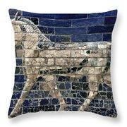 Babylon: Enamel Brick Bull Throw Pillow