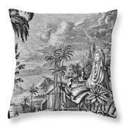Babylon: Sun Worship Throw Pillow