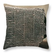 Babylonian Calendar Throw Pillow
