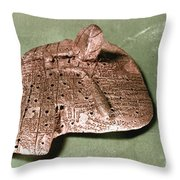 Babylonian Cuneiform Throw Pillow