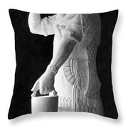 Babylonian God Of Healing, 5000 Bc Throw Pillow