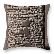 Babylonian Recipies Throw Pillow