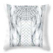 Babylonian Sphinx Lamassu Throw Pillow