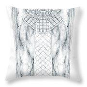Babylonian Sphinx Lamassu Throw Pillow