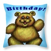 Babys First Birthday Throw Pillow