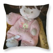 Baby's First Doll Throw Pillow