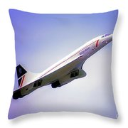 Bac Concorde  Throw Pillow