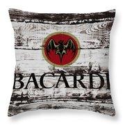 Bacardi Wood Art Throw Pillow