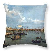 Bacino Di San Marco From Canale Della Giudecca Throw Pillow