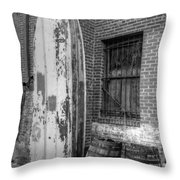 Back Alley Art Works Throw Pillow